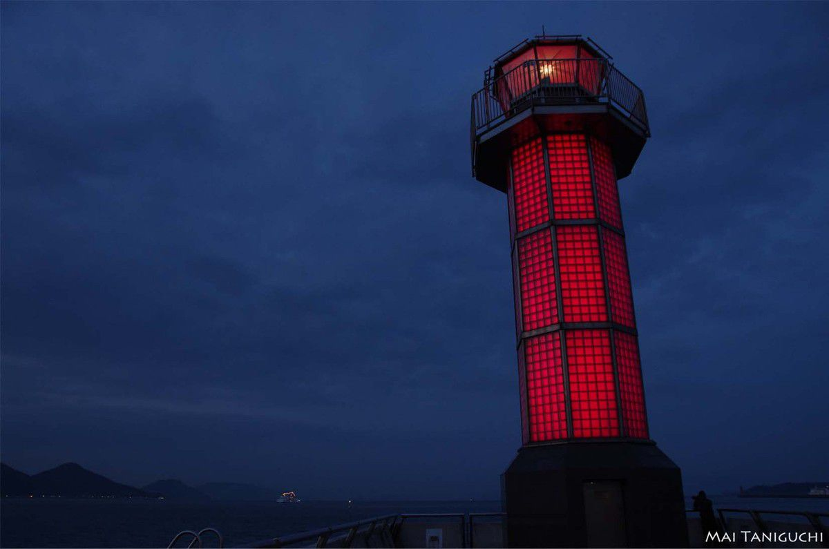 Une soirée au port de Takamatsu