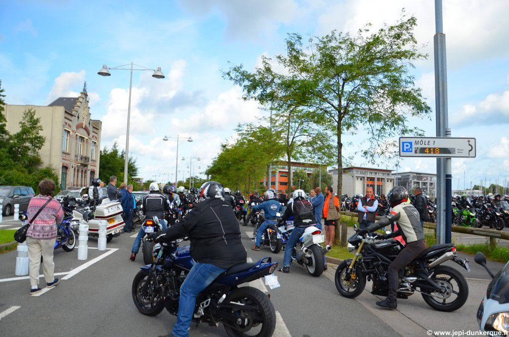 Concentration Motos et SNSM Dunkerque 2014 .
