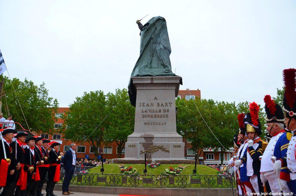 La statue rénovée de Jean Bart - Dunkerque-2015