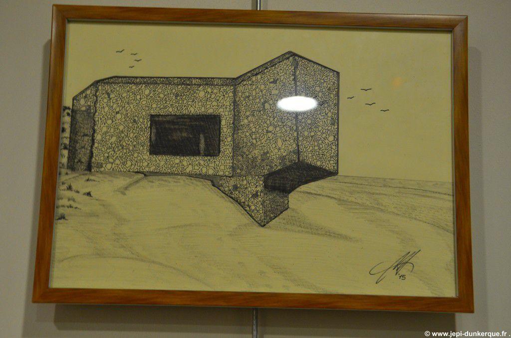 Exposition des dessins de Mauro Valente . Rosendaël-2015