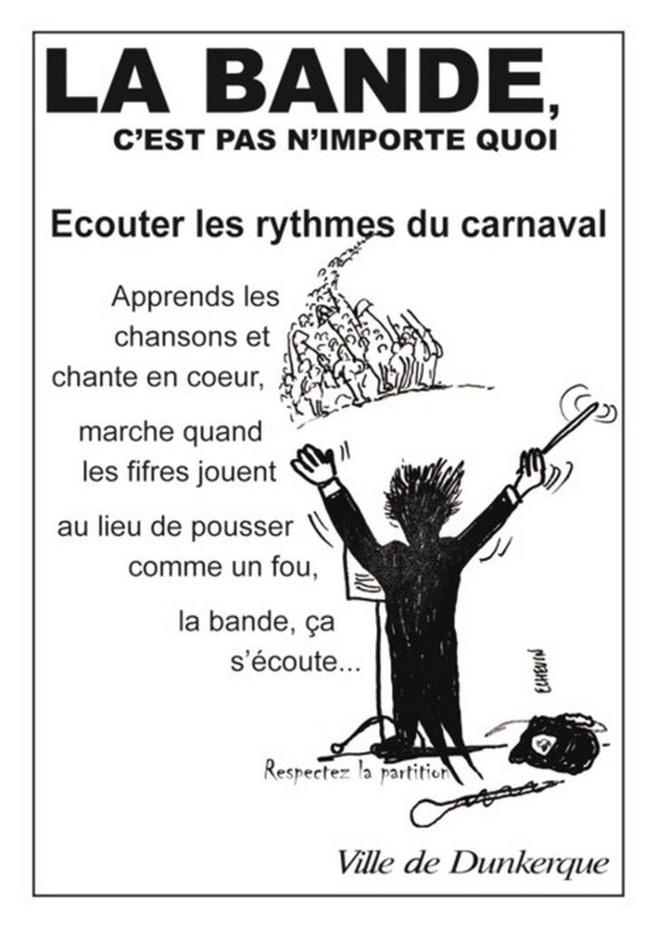 Itinéraires du Carnaval de Dunkerque 2016 .