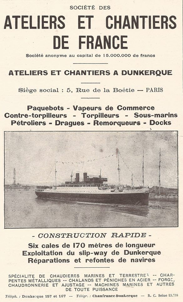 (05) La Construction Navale à Dunkerque Cartes postales et photos anciennes .