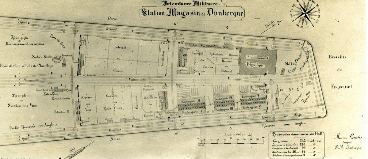 Plan de Dunkerque en 1713 .