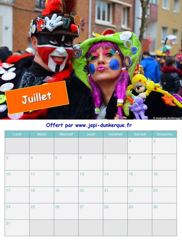 Calendrier Carnaval 2017 - Les Duos - Dunkerque .