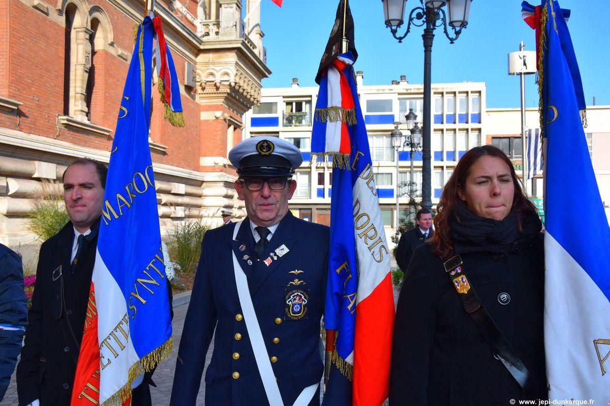 Cérémonie du 11 Novembre à Dunkerque 2016.
