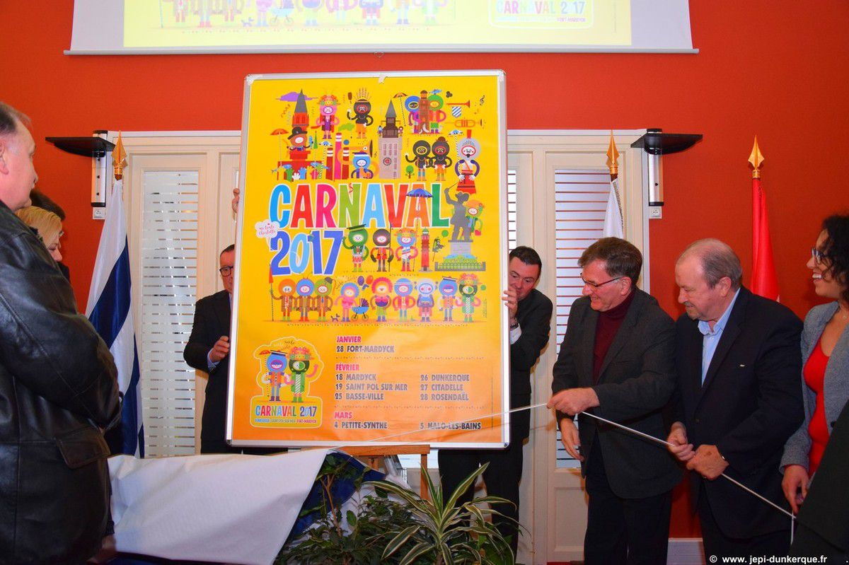 Affiche du Carnaval de Dunkerque 2017 .