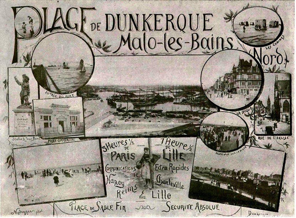 (12) Cartes Postales et Photos Anciennes de Malo les Bains .