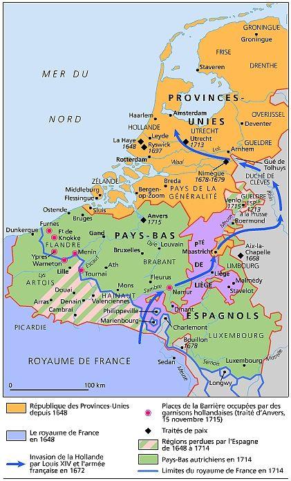 Les Pays-Bas et les Provinces-Unies, 1648-1715