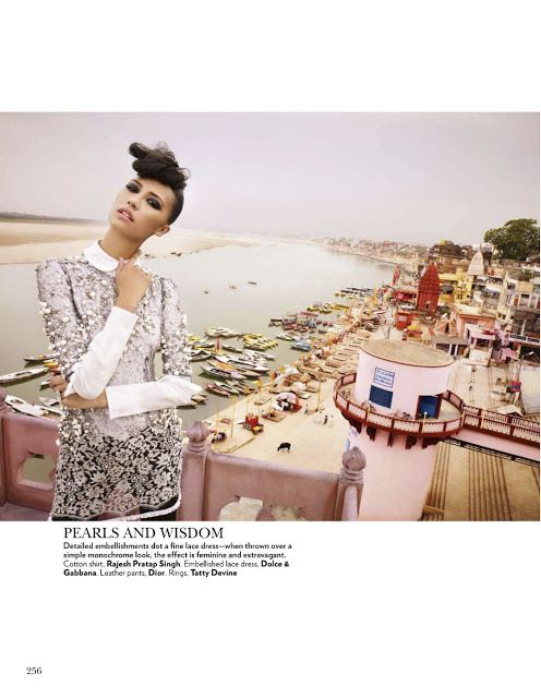 Luis Monterio photoshoot in Benares (India) for VOGUE INDIA Magazine.