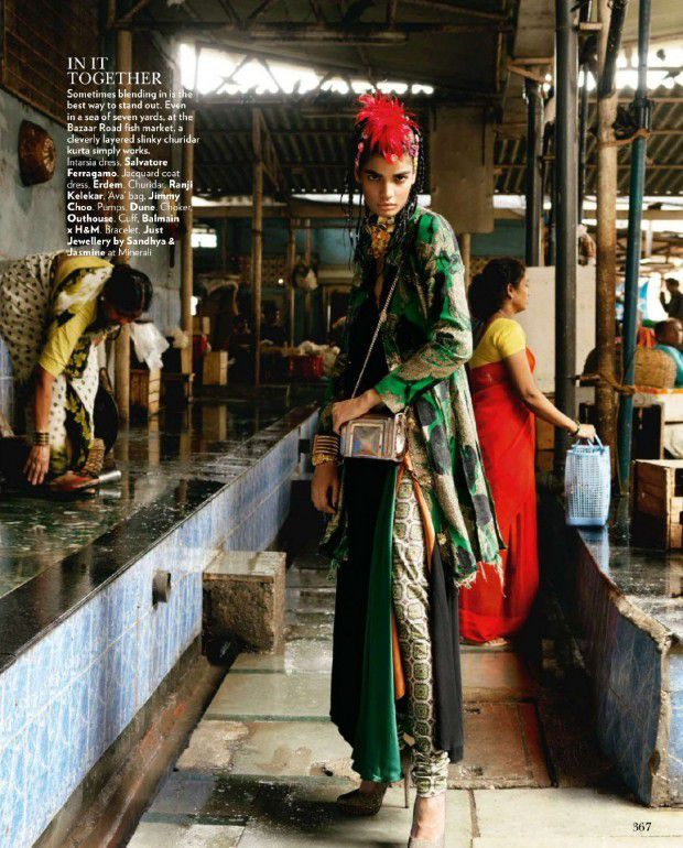 Bhumika Arora pose pour Vogue India (octobre 2015)