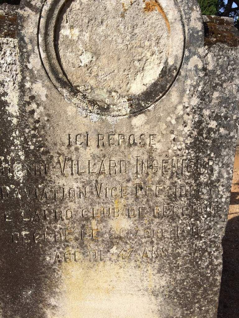 sa tombe au cimetière de Cahors