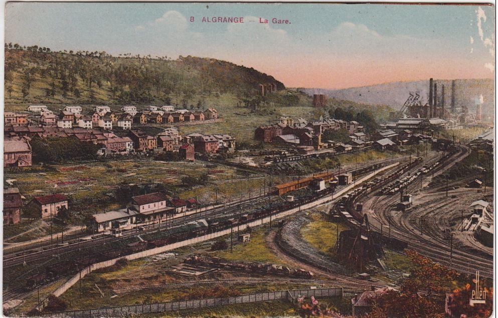 Algrange la gare au passé