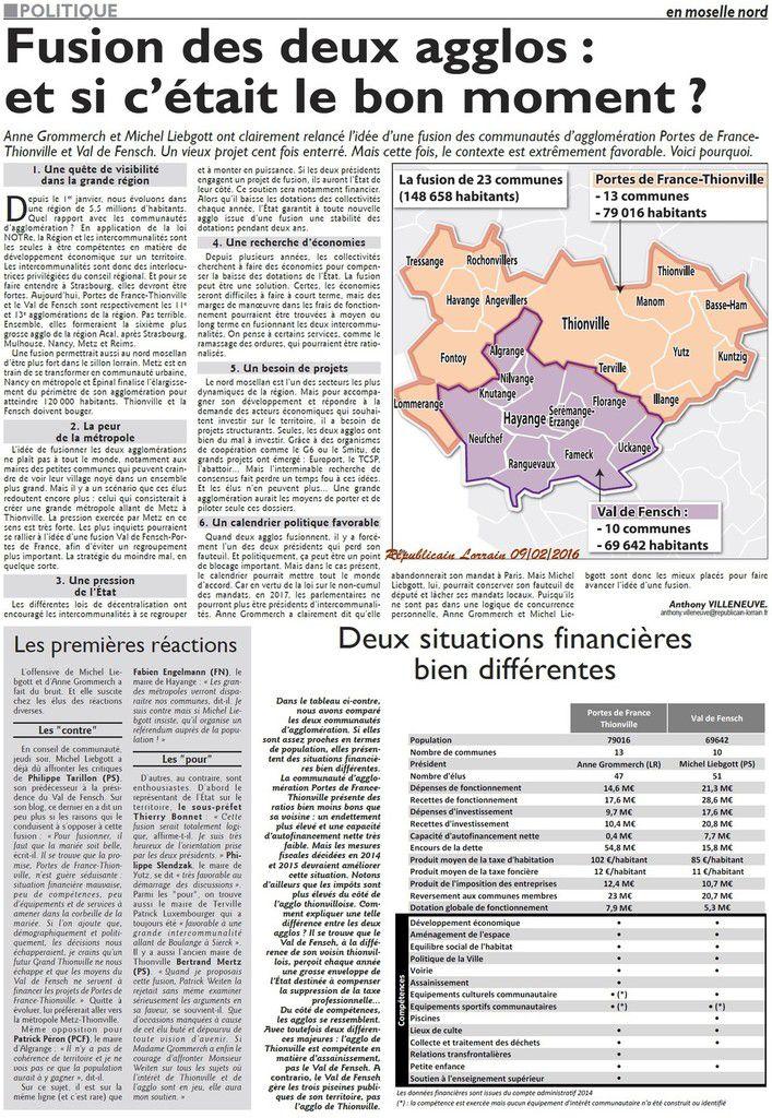 Val de Fensch et  Porte de France fusion ???