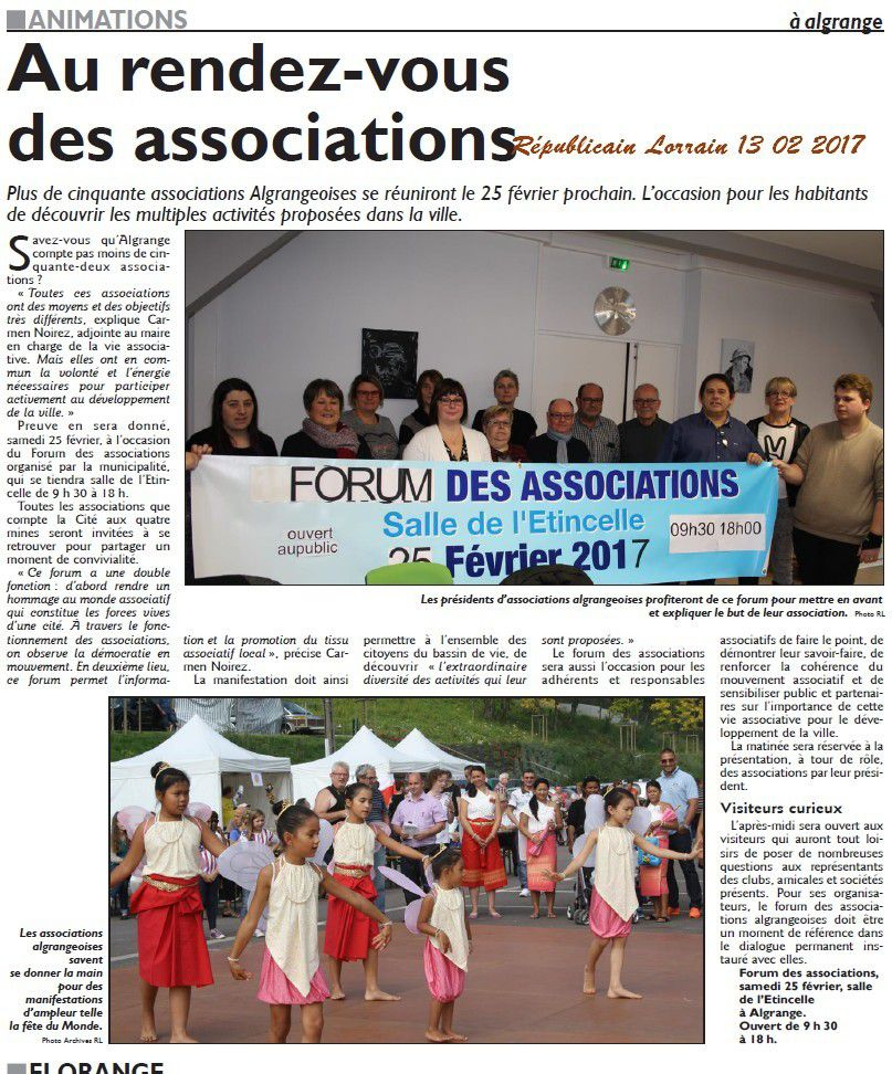 Algrange Forum de Associations