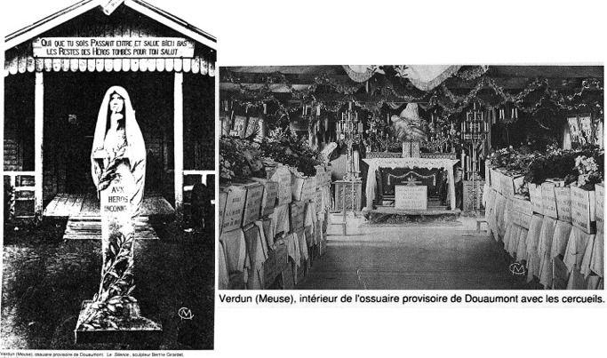 Ossuaire provisoire de Douaumont à Verdun et Tour-Lanterne de Notre Dame de Lorette