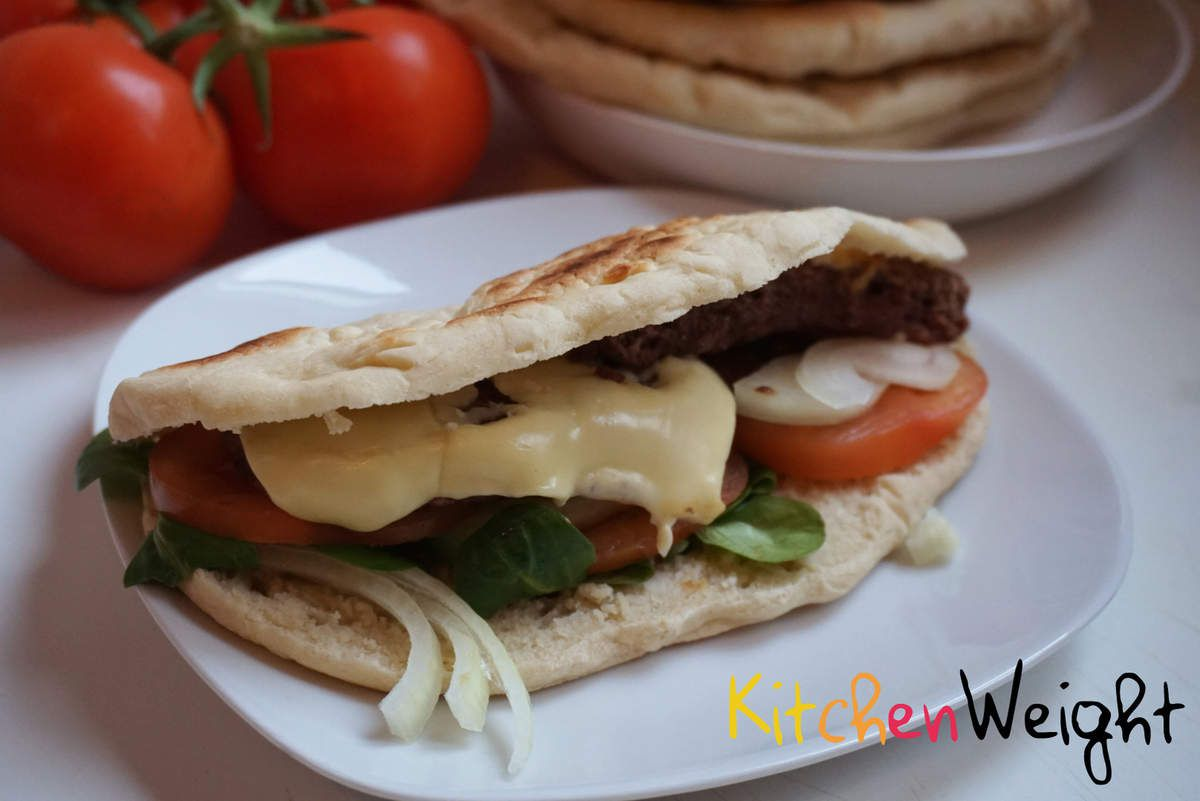 Sandwich &quot&#x3B;Grec&quot&#x3B; variante steack/fromage WW