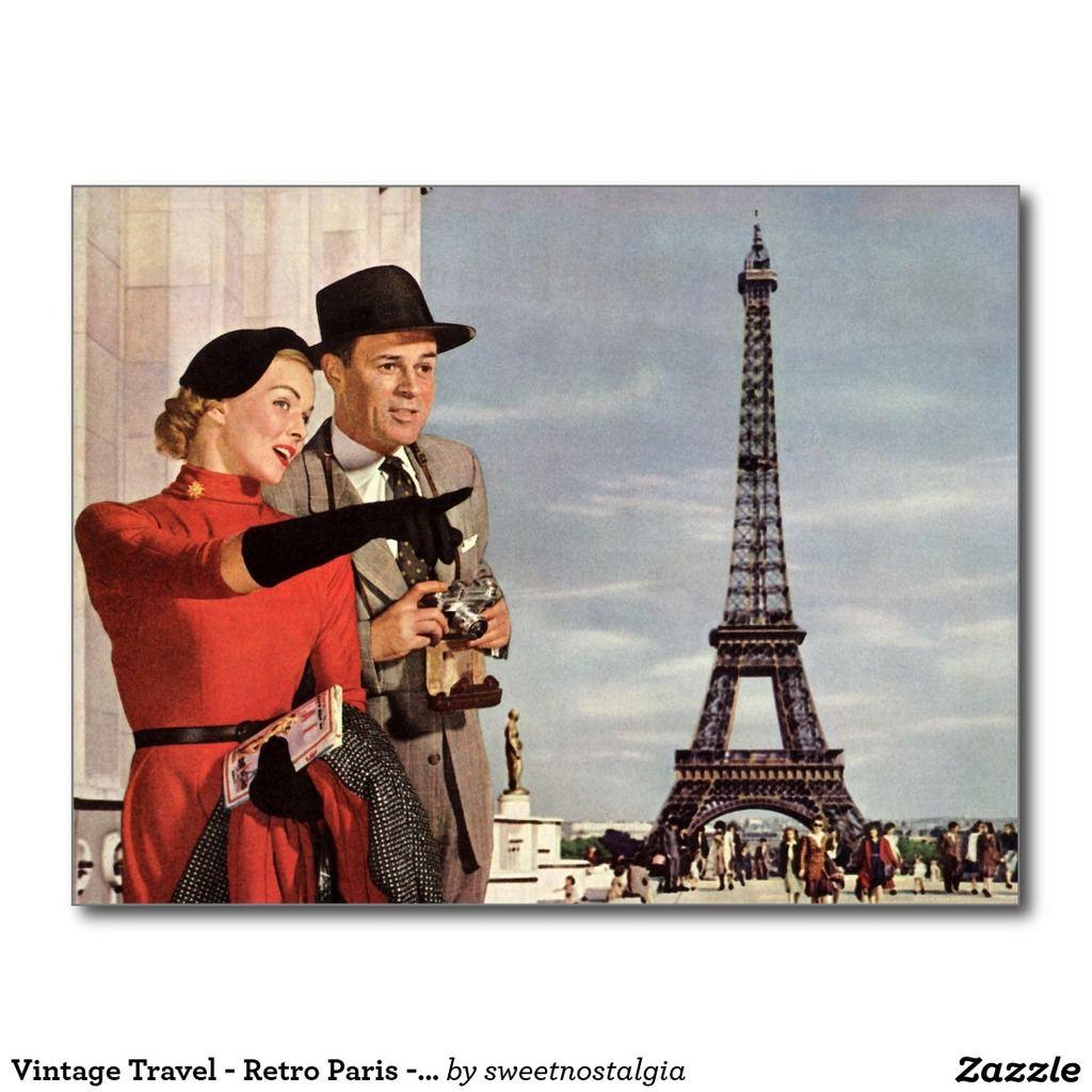 Carte rétro La Tour Eiffel