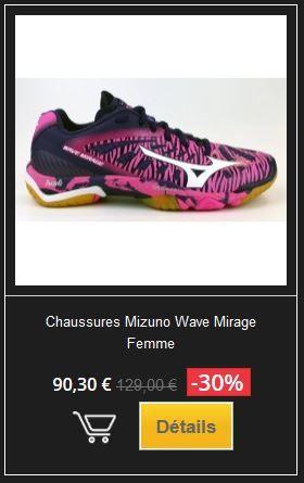 Déstockage Chaussures Mizuno sur handball