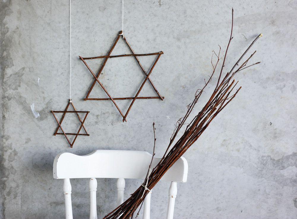 DIY des étoiles avec des branches