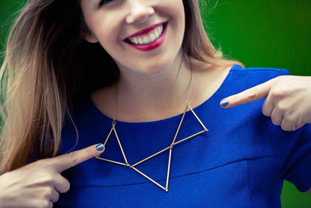 DIY un collier triangle