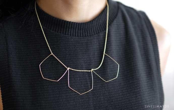 DIY un collier géométrique