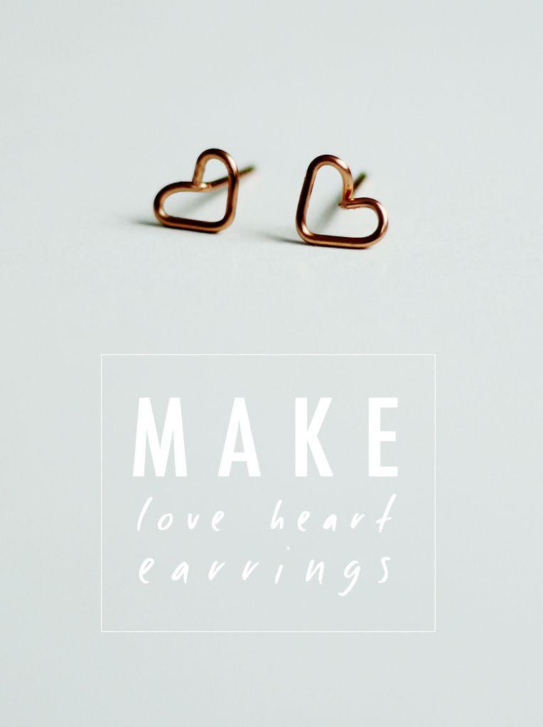 DIY des boucle d'oreille coeur