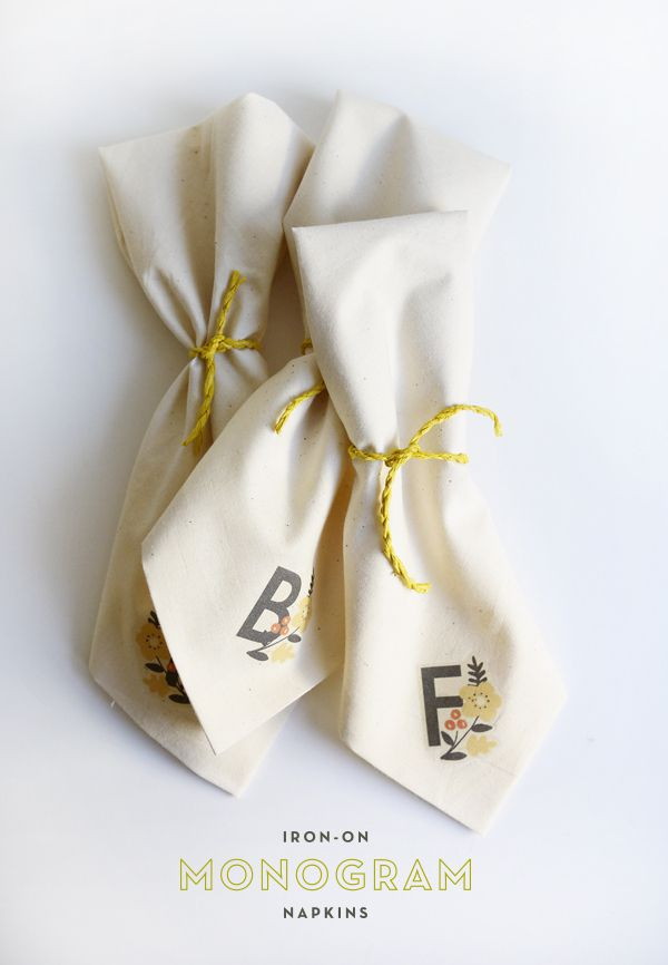 DIY des serviettes de table monogramées