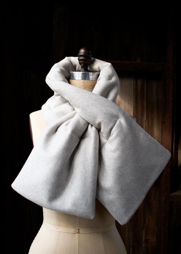 DIY une echarpe douce et molletonée