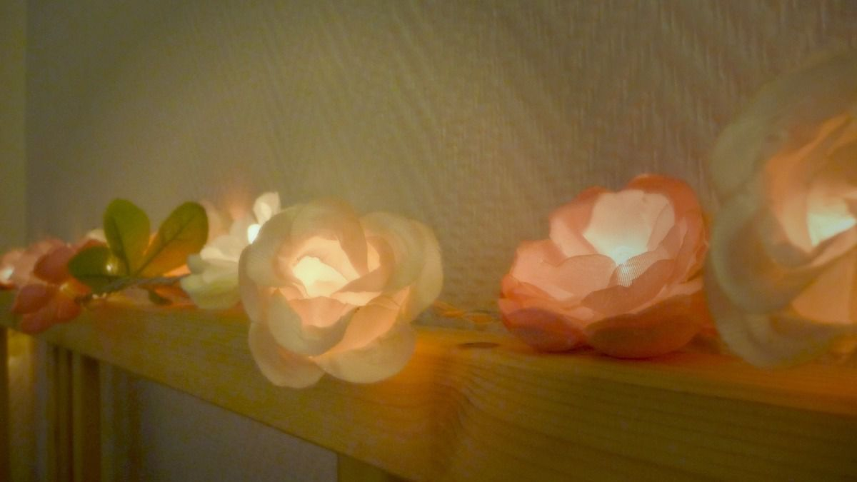 diy une guirlande de fleur lumineuse dans mon bocal. Black Bedroom Furniture Sets. Home Design Ideas