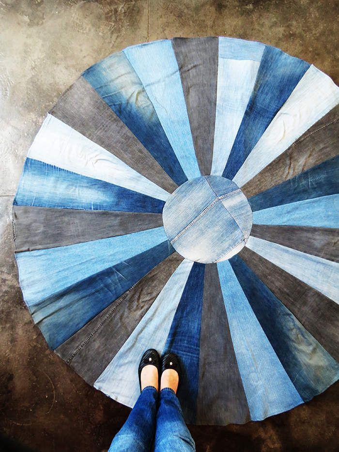 DIY un tapis avec de vieux jeans