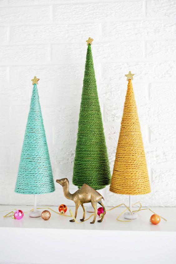 DIY des petits sapins décoratifs