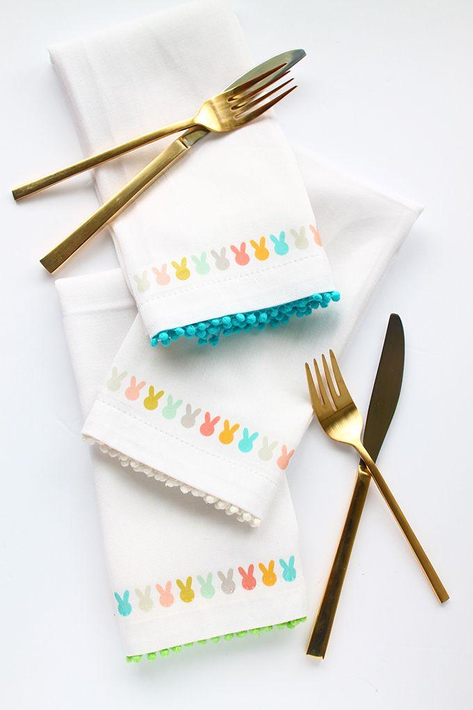 DIY des jolies serviettes de Pâques