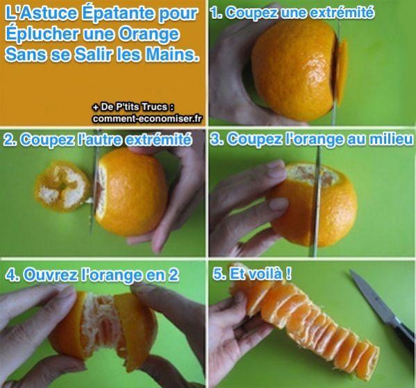 Comme Peler une Orange Facilement Eplucher une orange sans se salir les mains