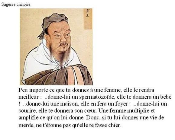 Blague - &quot&#x3B;proverbe chinois&quot&#x3B;