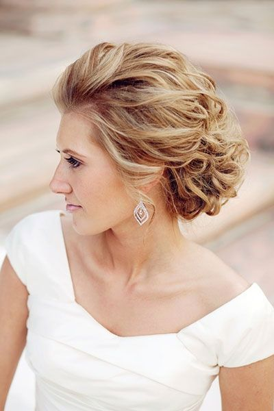 Coiffure glamour pour mariage