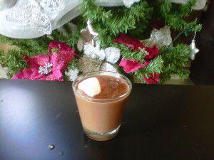 Chocolat de Noël (chocolat au lait et chamallow)