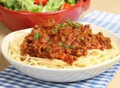 Défi : L'énorme assiette de spaguettis bolognaise