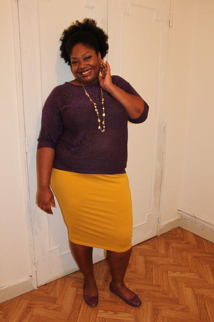 Couleurs complémentaires, le violet et le jaune.