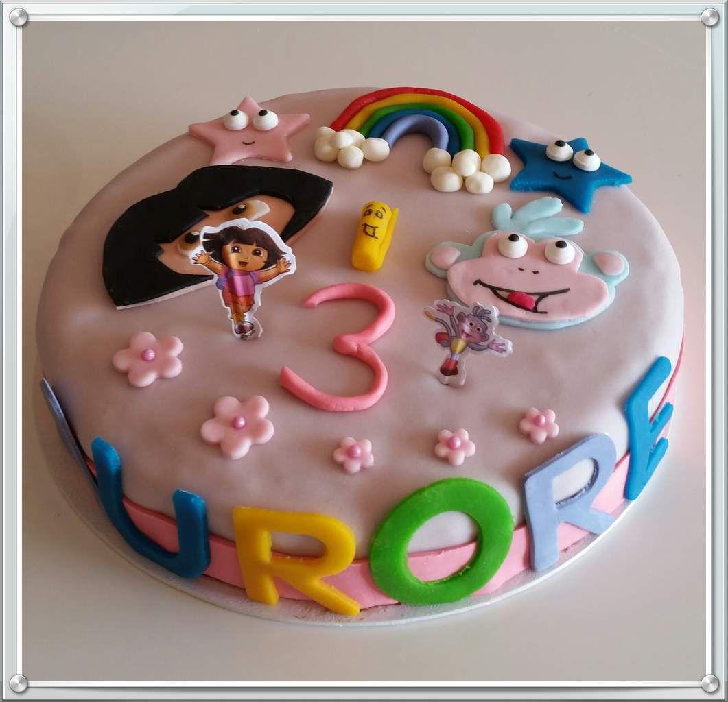 G teau dora foodemoi - Gateau anniversaire fille 3 ans ...