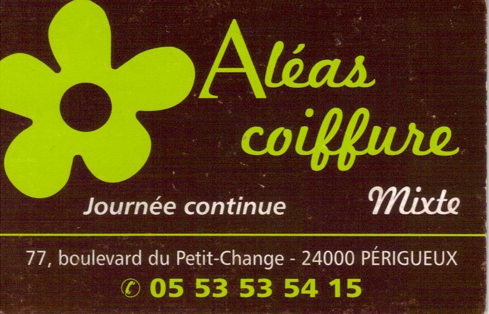 Aléas Coiffure, partenaire des sacs des enfants depuis 2012, situé boulevard du Petit Change.