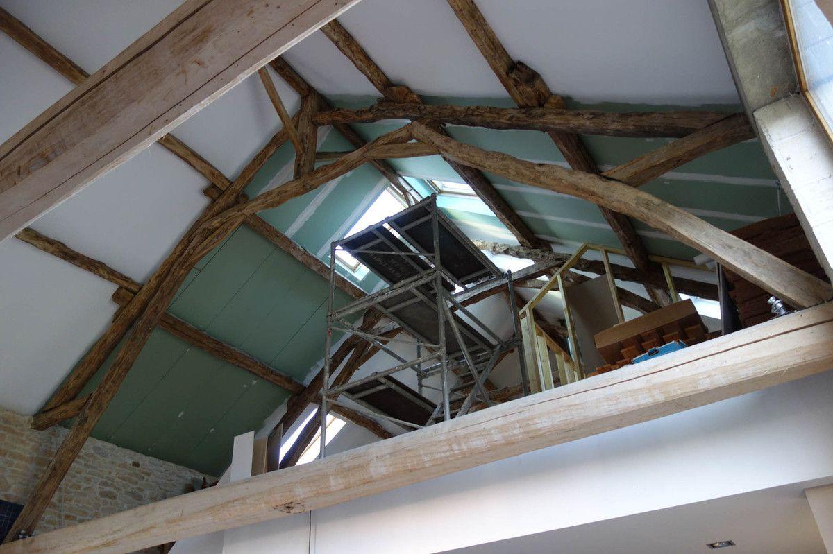 099 - L'étage : rampants et structure des cloisons