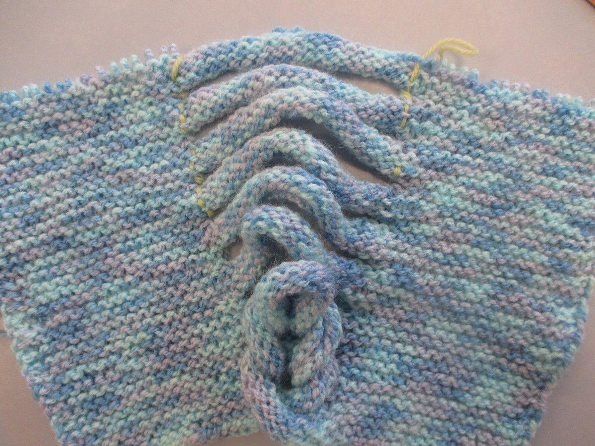 Bonnet tresse au tricot