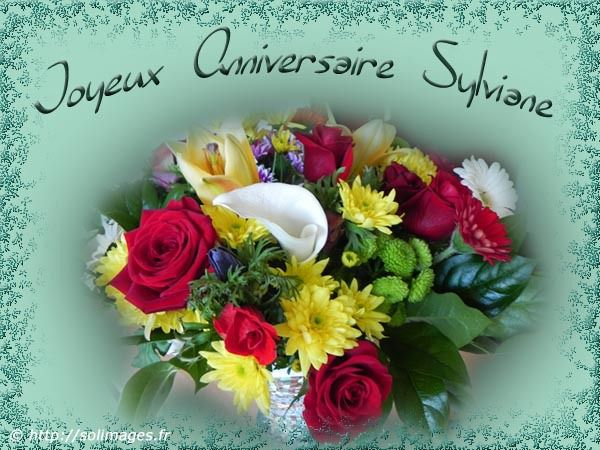 Bon anniversaire Sylviane