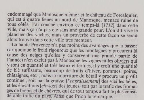 Le tremblement de terre de Manosque en 1711.