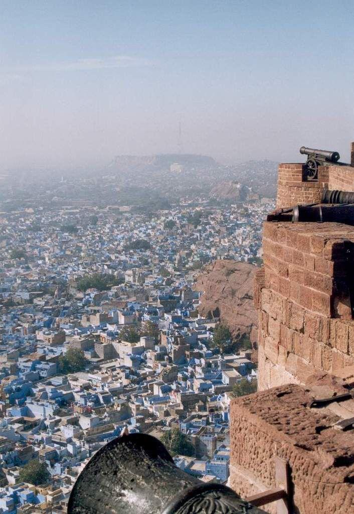Blick vom Fort auf Jodhpur, der blue City.