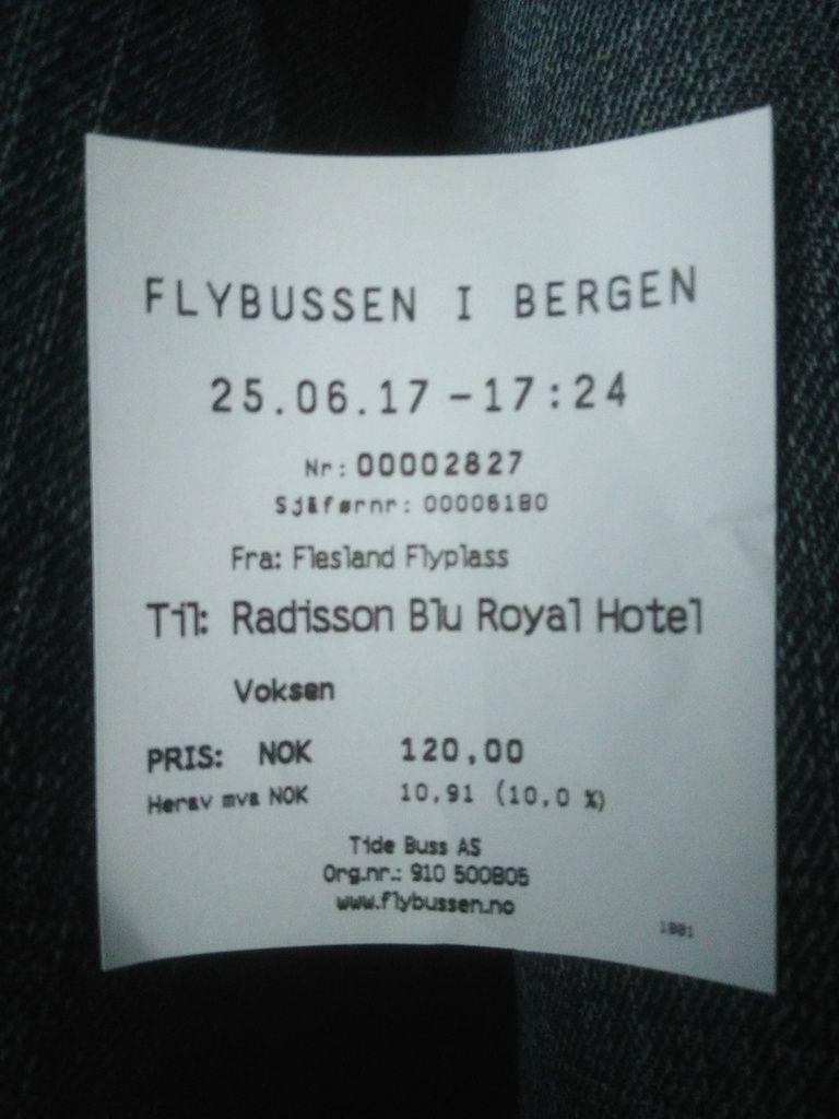 Même pas d'erreur sur le ticket de bus, tout est parfait ! Bon, il faut dire que c'est pas très difficile quand on cherche à atteindre le terminus.