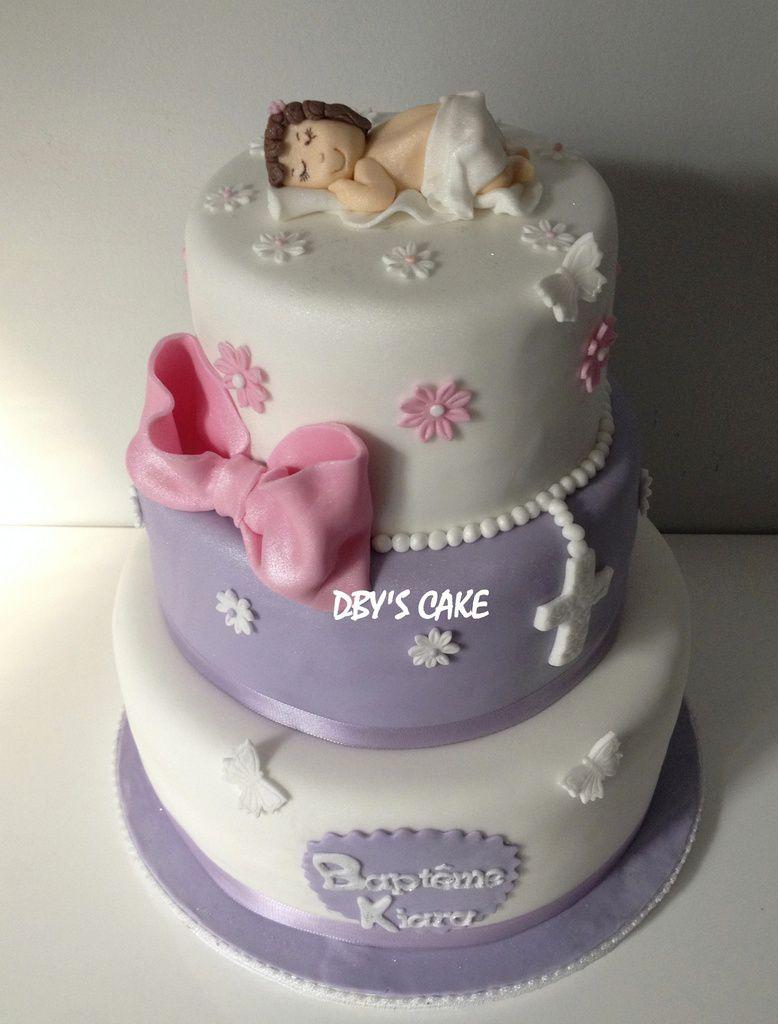 Gâteau Baptême Fille