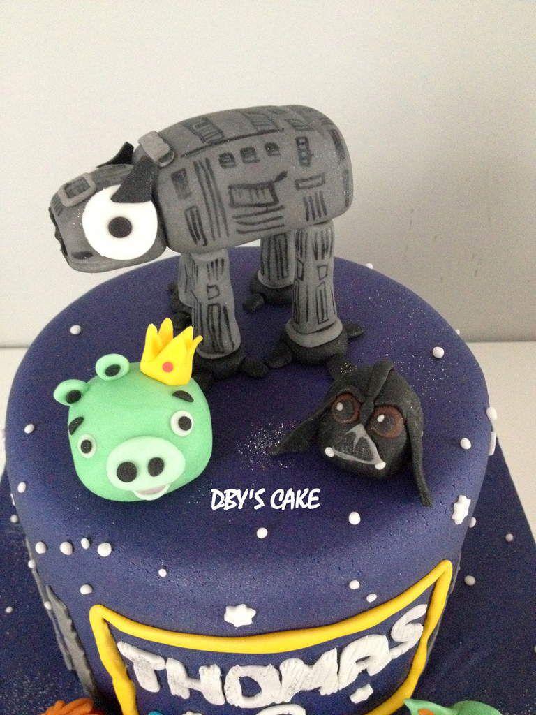 Gâteau Angry Birds / Star Wars