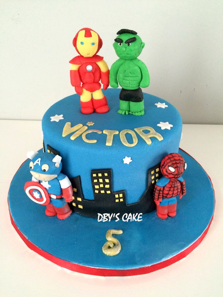 Souvent Gâteau Avengers - Dby's CaKe TF01