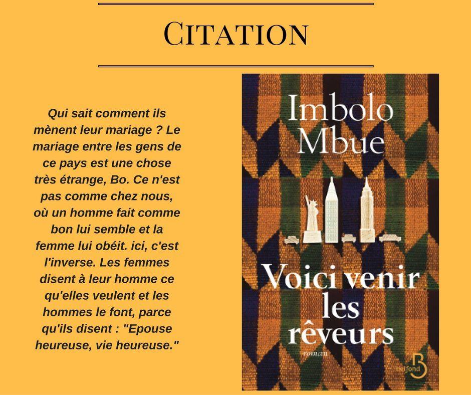 Citation : Voici venir les rêveurs d'Imbolo Mbue